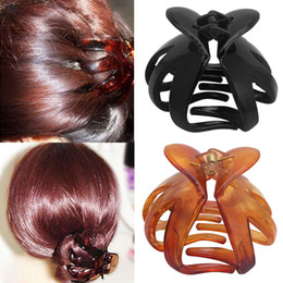 Discount black heart hair clips - LNRRABC Solid Color Resin Women Fashion Octopus Claw Hair Clip Curved Heart Shape Jewelry Accessories Wholesale