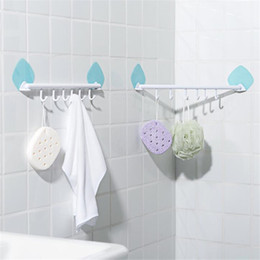 $enCountryForm.capitalKeyWord Australia - Wall Hook Strong Suction Cup Sucker Hanger Multi-function Hooks Kitchen Bathroom Adhesive Towel Shelf Cabinets Storage Rack