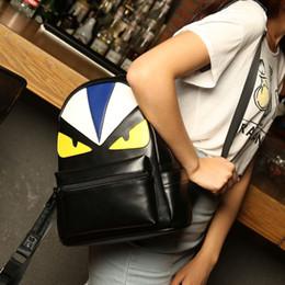 $enCountryForm.capitalKeyWord Australia - Designer-Brand Designer Students Backpacks Korean Creative Personality PU Fashion Tide Owl Double Shoulders Bag For Student School Bags