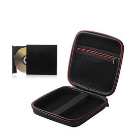 dvd storage bags Canada - Laptop External DVD Drive Hard Shell Shockproof Protective Cover Portable Mobile Recorder EVA Inner Storage Bag