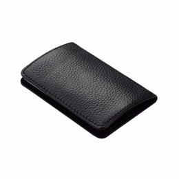 Wholesale Boxes Packaging Australia - Brand Wallet Leather Credit Women Men Package Card Holder Business Card Case Blocking Box#L5$