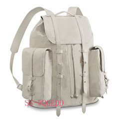 tory burch jeans NZ - New top designer backpack m53286 single transparent white leather book backpack single Jean handbag sport backpack rock climbing beach bag
