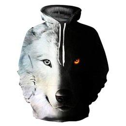 $enCountryForm.capitalKeyWord Canada - Men's Hoodies Sweatshirt Funny 3D Fashion Black White Wolf Printed Hoodie Men Women Pullovers Hooded Hoody Tracksuits Tops