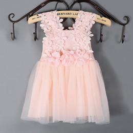 $enCountryForm.capitalKeyWord Australia - 2017 summer Korean version of the new children's clothing girls dress lace hook flower gauze skirt children's vest skirt