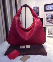 Fashion ladys tops online shopping - Top Quality Fashion Designer Luxury Soft European Genuine Leather Sheepskin Business Crochet Shoulder Bag Ladys Handbag Colors