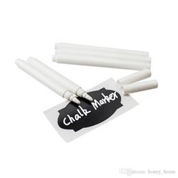 $enCountryForm.capitalKeyWord Australia - 4pcs White Liquid Chalk Pens for Wall Sticker Kids Room Blackboard Kitchen Jar Convenient Removable Mark Pens Kawaii Stationery