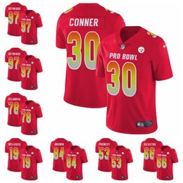 Pittsburgh Women s Men s youth JuJu Smith-Schuster James Conner Limited  football Jersey Steelers Red AFC 2019 Pro Bowl 8fcee2560