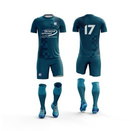 d6712a24528 cheap Print Name and number Men Soccer uniform Set football Kits Youth  Futbol Breathable soccer jersey tracksuit