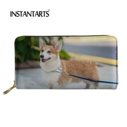 $enCountryForm.capitalKeyWord Australia - INSTANTARTS Design Female Money Wallets 3D Cute Keji Dogs Printing Zipper Long Purse Fashion Women Card Holder Carteira Feminina