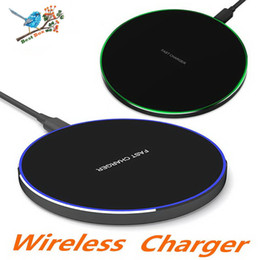google nexus wireless charger NZ - 10W Fast Qi Wireless Charger for iPhone X 8 8Plus Fast Portable Charging Pad For Samsung Galaxy S6-S7-S8-S9 Google Nexus Lumia