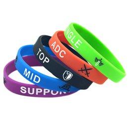 Großhandel LOL League Of Legend Silikon-Armband-Armband mit ADC JUNGLE MID SUPPORT TOP