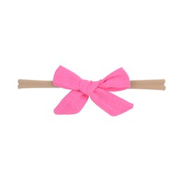 handmade hair bow boutique UK - 1 Piece Lovely Colorful Bow Headband Elastic Hair Band Baby Girls Boutique Handmade Hairband Turban Headwear Hair Accessories