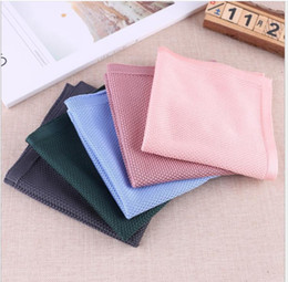 Pure Wool Suits Australia - 2019 New Simple Pure Colored Knitted Towel Fashion Suit Pocket Towel Formal Dress Towel