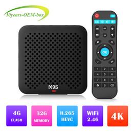 Tv Media Player Wifi Australia - Factory M9S J2 Android 8.1 Tv Box Quad Core 4GB 32GB RK3328 2.4G Wifi H.265 USB 3.0 ott tv Media Player Better S905W A5X Max H96 MAX S905X2