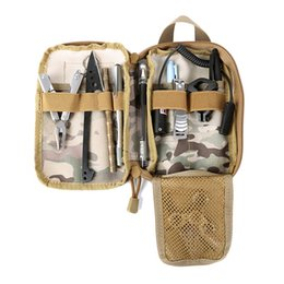 Nylon Tool Bags UK - Multi-functional Outdoor 600D Nylon Camping Military Tactics Bag Waterproof Men Women High Quality Outdoor Tool Bags 5 Styles J3 #159138