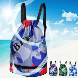 f490b2677329 Puimentiua 2019 Arrive Portable Dry Wet Separated Swimming Bag Floral Waterproof  Drawstring Backpack Pool Beach Travel Gym Bag