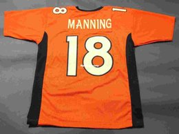 a1c313e30de Cheap retro  18 PEYTON MANNING CUSTOM MITCHELL   NESS Jersey orange Mens  Stitching High-end Size S-5XL Football Jerseys College NCAA