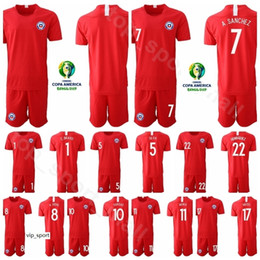 Chile football shirt online shopping - Chile Gary Medel Jersey Set Copa America Soccer Charles Aranguiz Erick Pulgar Football Shirt Kits