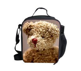 $enCountryForm.capitalKeyWord Australia - New Arrival Kids Bear Doll Lunch Bags,Thermal Insulated Girls Shoulder Lunchbox,Fashion 3D Children Picnic Lunch Box for Gifts