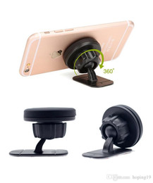 magnet support Australia - Happy Stand Magnetic Car Phone Holder Dashboard Mount Magnet Phone Support With Adhesive For Universal Cell Phone
