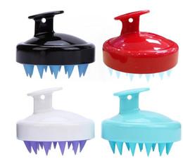 Silikon Şampuan Fırça Şampuan Saç Derisi Masaj Fırçası Rahat Silikon Saç Yıkama Tarak Vücut Bath Spa Zayıflama Masaj Fırçalar GGA2481