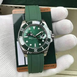 $enCountryForm.capitalKeyWord Australia - New high quality SUB green Ceramic Bezel luxury Mens womens watch Stainless Steel 8215 Automatic Watches Moon phase Wristwatch free delivery