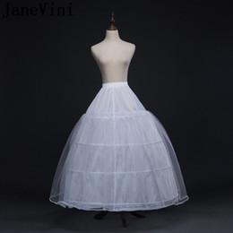 $enCountryForm.capitalKeyWord Australia - JaneVini Ball Gown Underskirt Women 4 Hoops Wedding Gown Petticoat Tulle Quinceanera Dress Net Bridal Petticoats Elastic Waist Underskirts