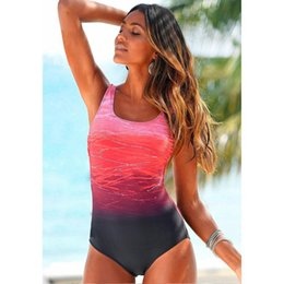 $enCountryForm.capitalKeyWord NZ - Women Summer One Piece Swimwear Sexy Fashion Bathing Suits Backless Gradient Print European and American Style Self Cultivation Jumpsuits