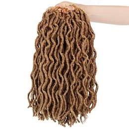 Twist Braiding Hair UK - Faux Locs Crochet Braids 14Inch Faux Locs Hair with Curly Ends Synthetic Goddess Locs Hair Twist Braids Hair Extensions