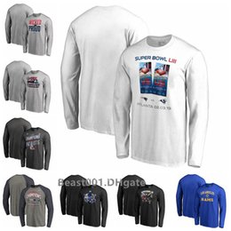 Patriot Shirts Australia - Men Patriots ProLineby Super Bow lLIII Bound Hometown Slogan Long Sleeve T-Shirt