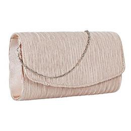 $enCountryForm.capitalKeyWord NZ - Women Shoulder Bag Solid Satin Chain Cover Crossbody Strap Party Buckle Wedding Handbag Purse Clutch