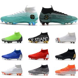football clay Australia - 2020 Latest Release VI Soccer Shoes FG black gold white moon blue silver Ronaldo Neymar Athletic Mens Boys Football Boots Cleats size 39-45