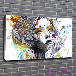 $enCountryForm.capitalKeyWord NZ - Colorful Mosaic,Anime Women,Girls,1 Pieces Canvas Prints Wall Art Oil Painting Home Decor (Unframed Framed) 24x36.