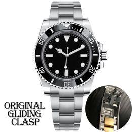 venda por atacado mens luxo designer de preto relógio automático fecho de cerâmica mecânica moldura completa Stainless Steel Original Gliding Sapphire 5ATM U1 à prova de água