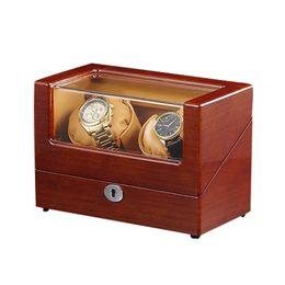 $enCountryForm.capitalKeyWord NZ - Watch Winder ,LT Wooden Automatic Rotation 2+0 Storage Case Display Box (Outside is Walnut Inside is brown)2019 new style