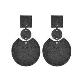 $enCountryForm.capitalKeyWord UK - Fashion Metal Punk Drop Dangle Earrings For Women Bohemian Round Pendant Christmas Gifts Charm Jewelry Gold Color E43