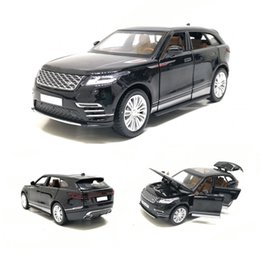 pull back mini cars UK - 1 32 VELAR Simulation Toy Car Model Alloy Pull Back Genuine License Collection Gift Off-Road Vehicle Children Toys T200110