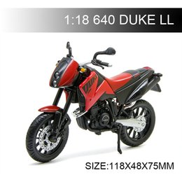 diecast motorcycles Australia - 1:18 Motorcycle Models KTM 640 DUKE LL 640 DUKE Diecast Plastic Moto Miniature Race Toy For Gift Collection