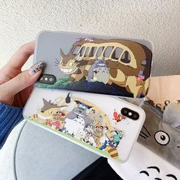 iphone bus 2019 - New Fashion Carton Style Phone Case for IphoneX XS XR XSMAX IphoneX Iphone7 8Plus Iphone7 8 Iphone6 6sP 6 6s with Totoro