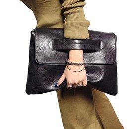Venta al por mayor de Bolso de hombro de las mujeres Bolso de embrague del sobre Pu Bolso de embrague femenino Bolsos de mensajero de cuero de señora Fashion Embragues Mano negra # 376341