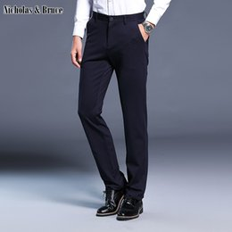 $enCountryForm.capitalKeyWord NZ - N&B Dress Pants Men Slim Fit Mens Black Dress Pants Formal Business Trousers 2019 Male Full-Length Pant Classic Suit Pant SR40