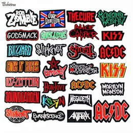 Band Clothes For Australia - Rock Music Band Clothes Patches Iron on Letters Fashion Embroidered Badges DIY Appliques for Jacket Clothes Decoration