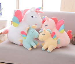 $enCountryForm.capitalKeyWord NZ - Unicorn Stuffed Animals Plush Toy Cute Cartoon Cushion Unicorn Animal Horse High Quality Cartoon Gift For Children