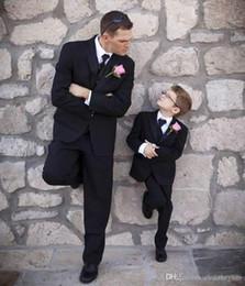 $enCountryForm.capitalKeyWord Australia - Black Wedding Tuxedos For Boy Custom Made Slim Fit Men Business Formal Boy Suit Three Pieces Groomsmen Suit (Jacket+Pants+Vest+Tie)
