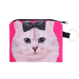 Dog Zipper Australia - Hot Sale Women Girl Pet Dog Cat Printing Coins Purse Money Change Purses Small Clutch Zipper Zero Wallet Phone Key Bags Bolsa
