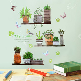 $enCountryForm.capitalKeyWord Australia - DIY Garden Plant Pattern Wall Sticker Home Decoration for Bedroom Living Room Butterfly Wall Stickers Wall Vinyl Mural Decal