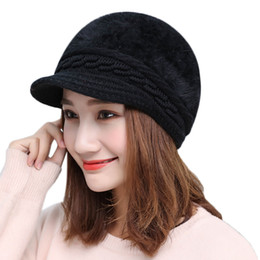 7ef0b86b9b8f6 2019 Fashion Hat Women Winter Warm Solid Knitted Hat Beret Baggy Beanie  Slouch Ski Cap Hot sale