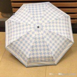 Cotton sun umbrella online shopping - Camellia Luxury Designer Umbrellas Bear Printed Umbrella Portable Windproof Folding Umbrella Short Handle Umbrella for Sun DZX