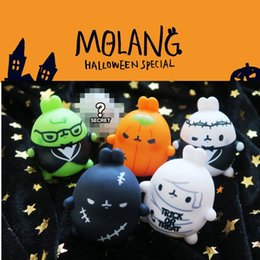 girls doll toy package Australia - Molang Rabbit Blind Box Halloween Pumpkin Ghosts Dressed Up As Small Doll Hand Ornaments Fashion Cool Toys
