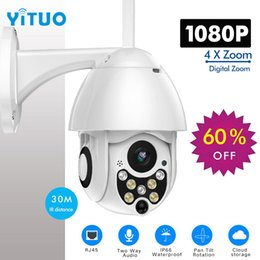 outdoor pan tilt cameras 2019 - 1080P PTZ IP Camera Outdoor Speed Dome Wireless Wifi Security Camera Pan Tilt 4X Zoom IR Network CCTV Surveillance cheap